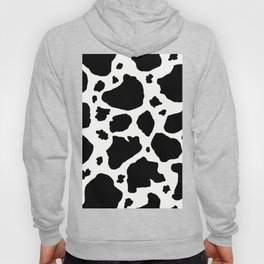 black and white animal print cow spots Hoody