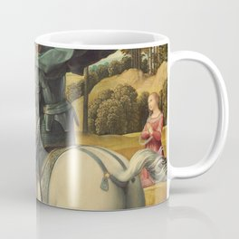 Saint George and the Dragon Oil Painting By Raphael Coffee Mug