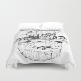 Hamsa in Nature Duvet Cover
