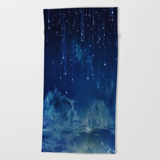 Falling stars I Beach Towel