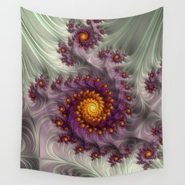 Saffron Frosting - Fractal Art Wall Tapestry