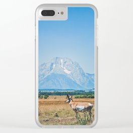 Pronghorn Clear iPhone Case