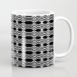 Arrows and Diamond Black and White Pattern 2 Coffee Mug