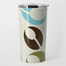 Mid-Century Modern Martini (teal) Travel Mug