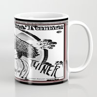 tina crespo Mugs featuring QUEEN OF ROCK...Tina by KEVIN CURTIS BARR'S ART OF FAMOUS FACES