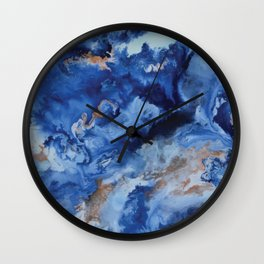 Depths of the Sea - Mixed Media Painting Wall Clock
