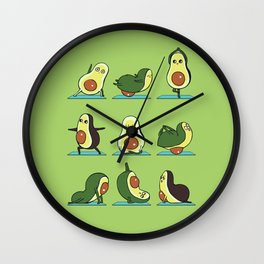 Avocado Yoga Wall Clock