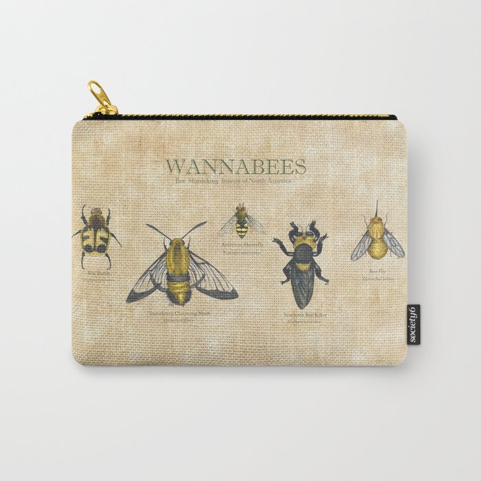 wannabees: Bee Mimicking Inects Carry-All Pouch