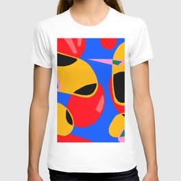 Blue yellow and black T-shirt