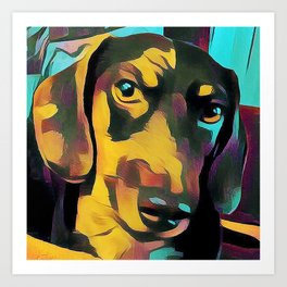 Colorful Dachshund Art Print
