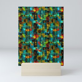 Art splash brush strokes paint abstract seamless pattern print background Mini Art Print