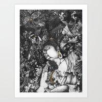 voyage Art Prints featuring Voyage by Bjan Bernabe