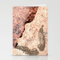 angel wings Stationery Cards featuring Angel wings by Dominique Gwerder