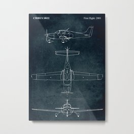 CIRRUS SR22 - First flight 2001 Metal Print