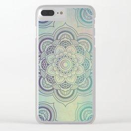 Peaceful Mandala Clear iPhone Case