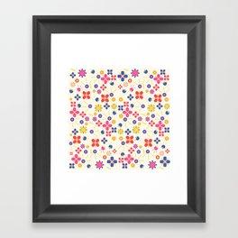 Lovely Bubblegum Flower Spring Pattern Framed Art Print