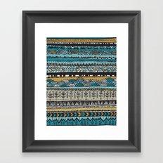 Duck egg and Gold Framed Art Print