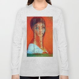 "Odilon Redon ""Veiled woman"" Long Sleeve T-shirt"