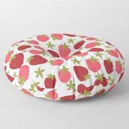 Modern Strawberry Summer Fruit Floor Pillow
