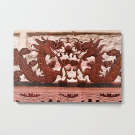 Two Chinese Dragon Metal Print