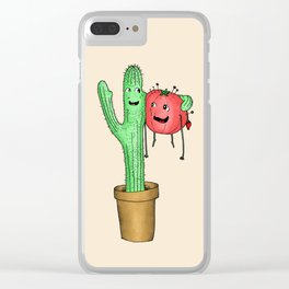 Prickly Pair Clear iPhone Case