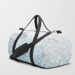 She Sparkles - Turquoise Teal Glitter Marble Duffle Bag