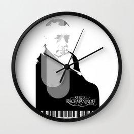 Sergei Rachmaninoff Wall Clock