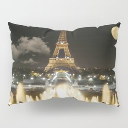 Eiffel Tower at Night Pillow Sham