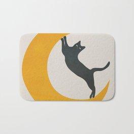 Moon and Cat Bath Mat