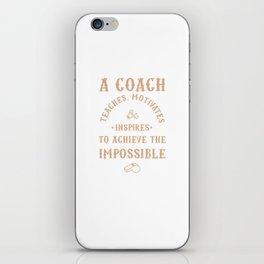 Best Coach Appreciation Gifts Teach Motivates Inspires iPhone Skin