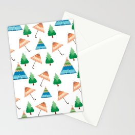 Umbrella Home Pattern  Stationery Cards