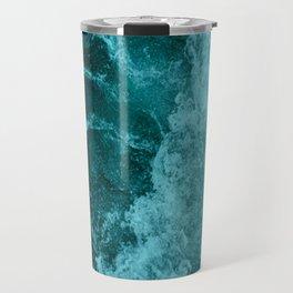 Blue Pacific Ocean Waves Travel Mug