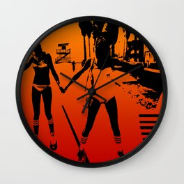The Girls of Summer Wall Clock