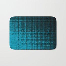 Black blue mosaic Bath Mat