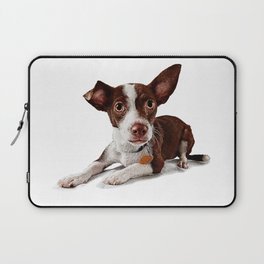 Cute puppy waiting to be adopted Laptop Sleeve