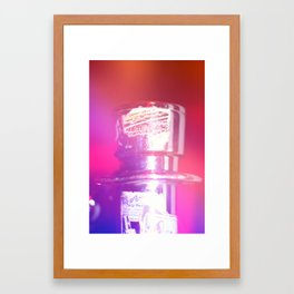 At The Rock Show Framed Art Print