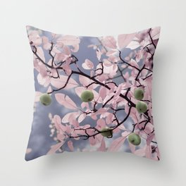 Pink Crabapple Tree Throw Pillow
