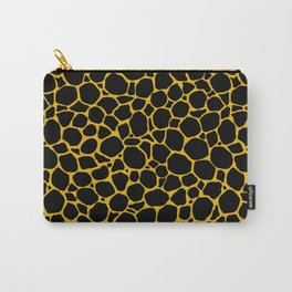 Mustard Yellow Black Turtle Shell Carry-All Pouch