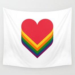 Heart rainbow Wall Tapestry