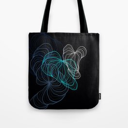 Gray, blue and white / digital drawing Tote Bag