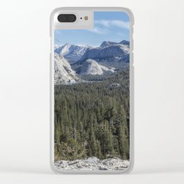 The North View Towards Tenaya Lake from Olmsted Point Clear iPhone Case
