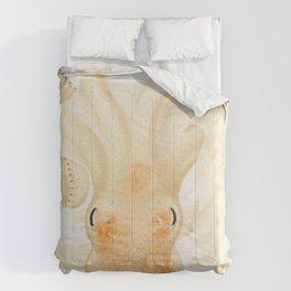 Peachy Keen Octopus Circa 1898 Comforters