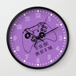 Video Game Lavender Wall Clock