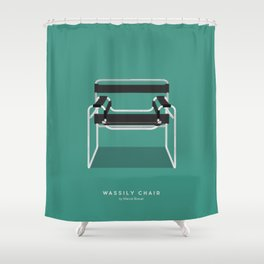 Wassily Chair - Marcel Breuer Shower Curtain