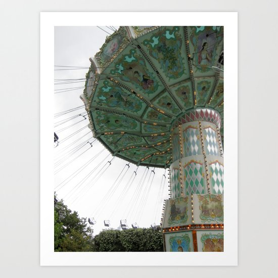 Jardin d'Acclimatation Ride, Paris Art Print