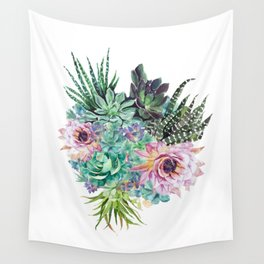 Succulent Bouquet Wall Tapestry