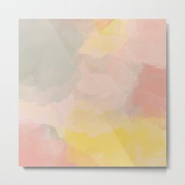 Pretty Watercolor Abstract Painting Metal Print