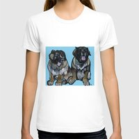 simba T-shirts featuring Simba and Snuffaluffagus the Leonbergers by Pawblo Picasso