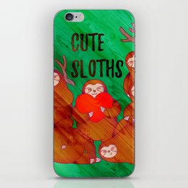 Cute Sloths iPhone Skin