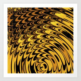 Liquidelica | Orange+Black Art Print